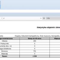 Statystyka objętości zbiorów